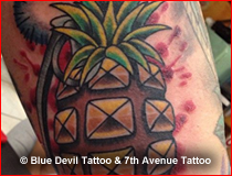 Color Tattoo Gallery Blue Devil