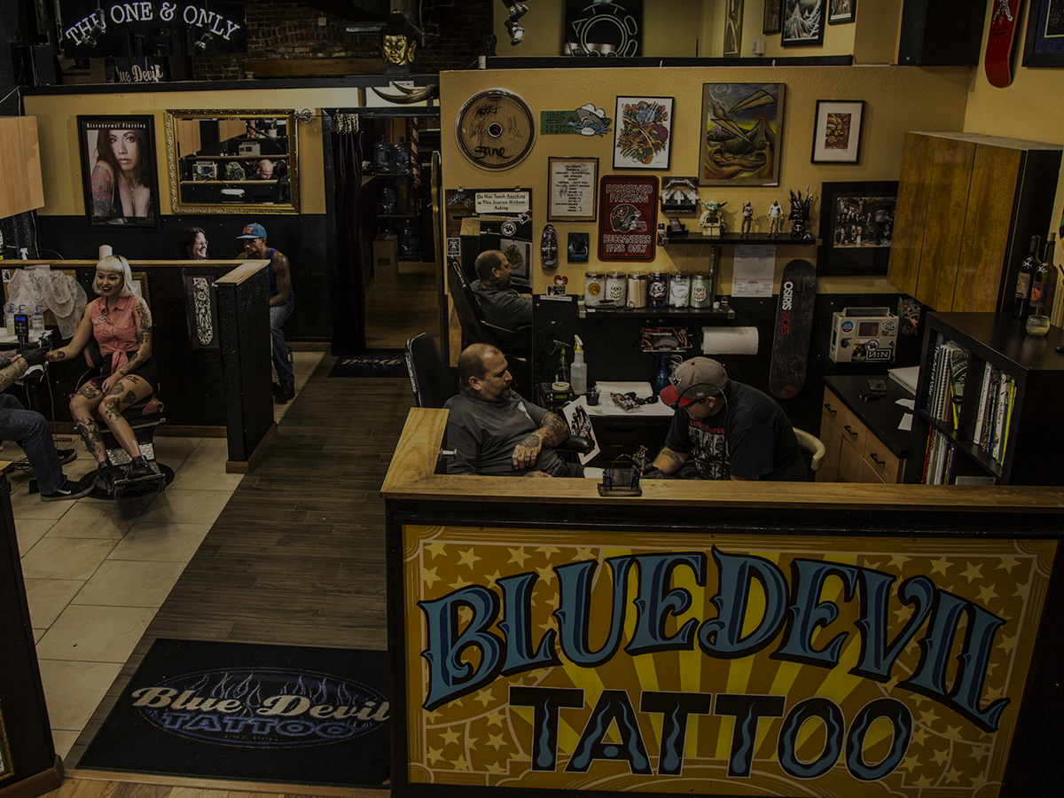 Blue Devil Tattoo